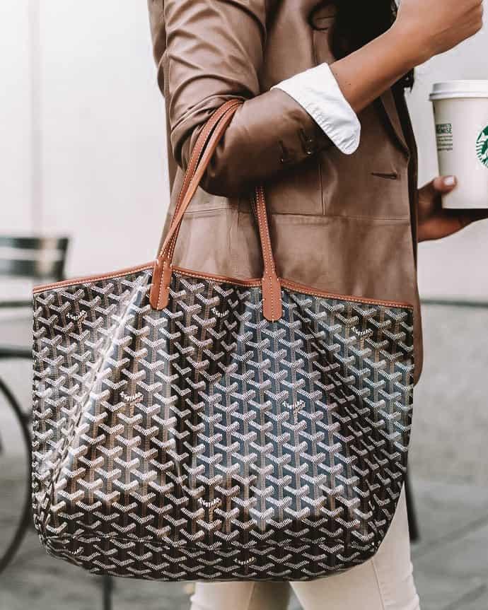 Goyard Tote Bag Styled