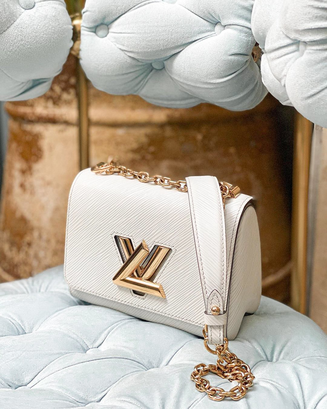 White Louis Vuitton twist bag