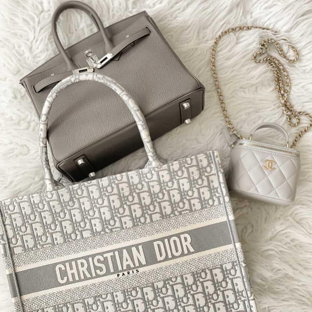 Dior Tote and Hermes Birkin