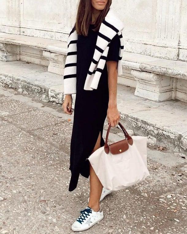 Longchamp bag styled