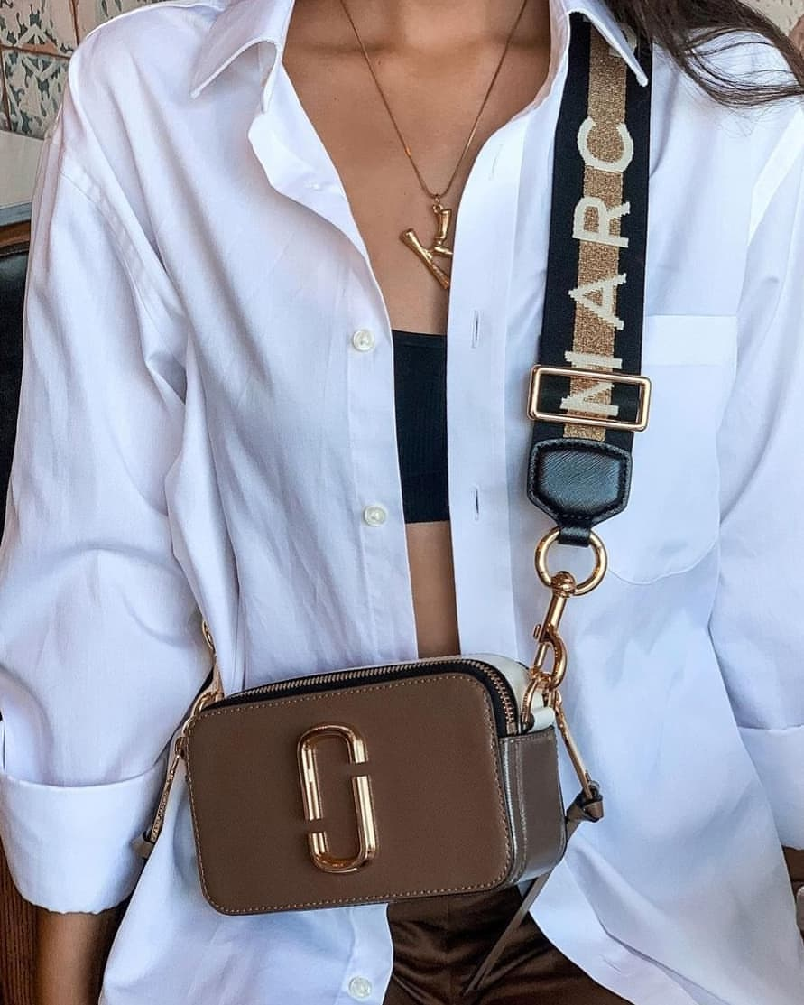 Marc Jacobs snapshot bag styled