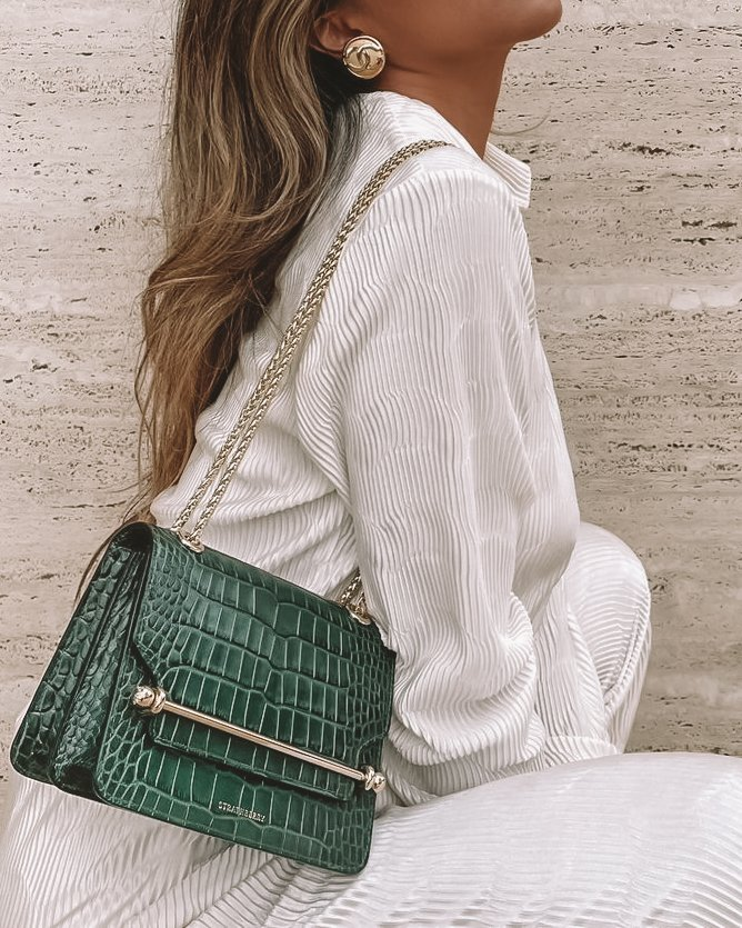Strathberry East west bag in green