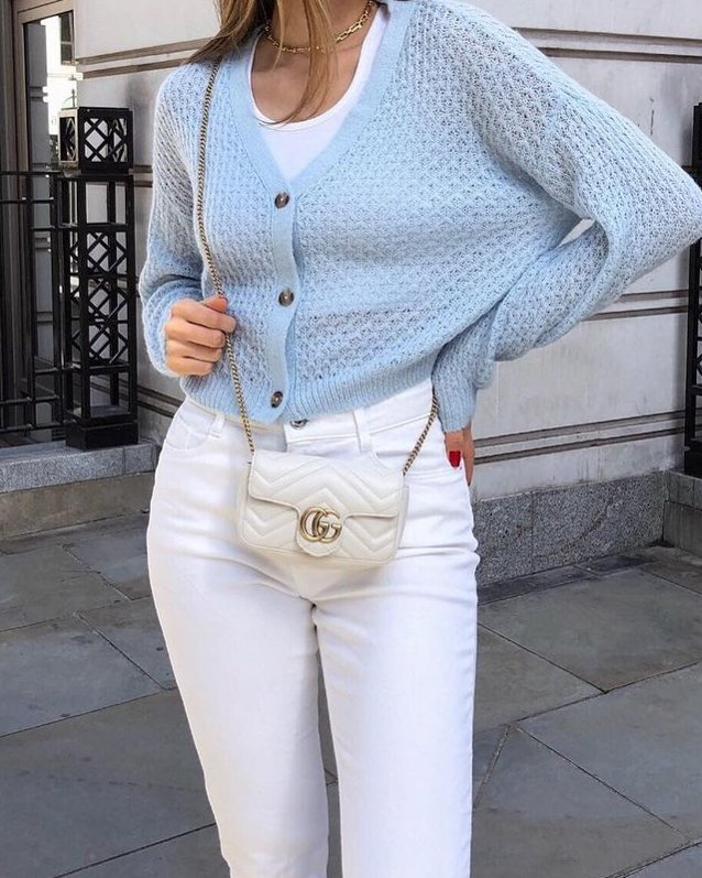 White Gucci Bag styled