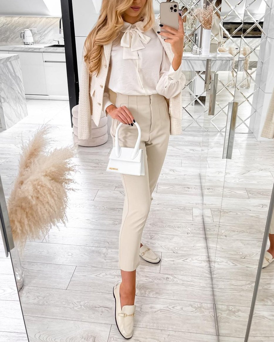 White Jacquemus Le Chiquito Bag styled