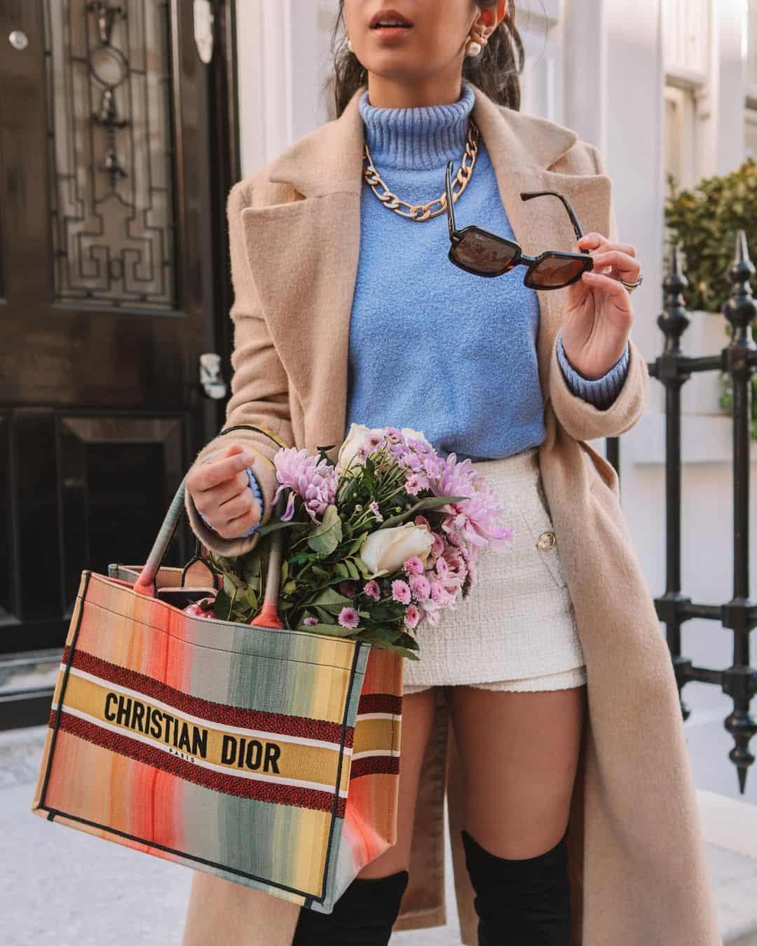 Dior colorful tote bag