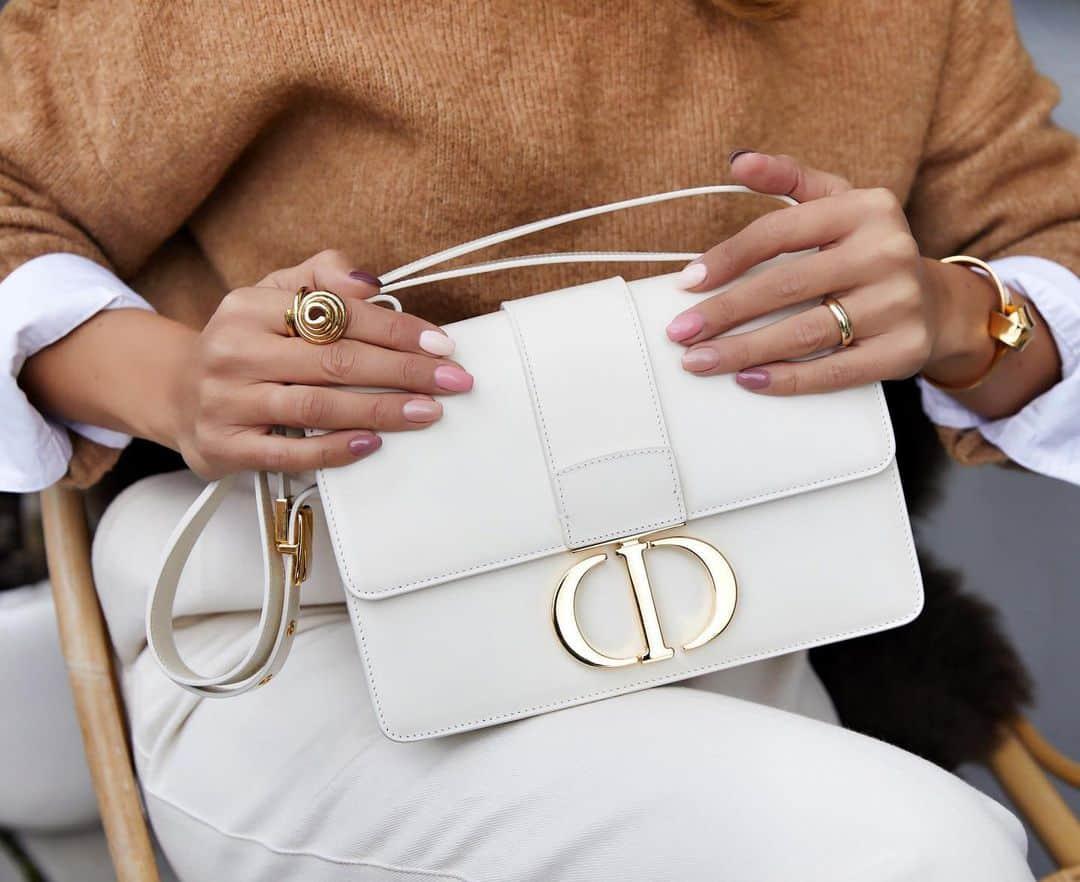 White Dior Montaigne Box Bag